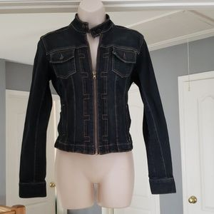 Bomber jean jacket